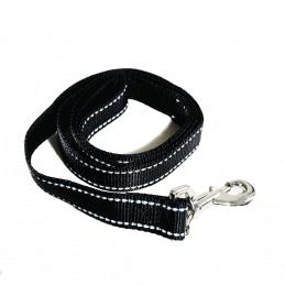 LAISSE Chien UNI Noir 2.5 cm