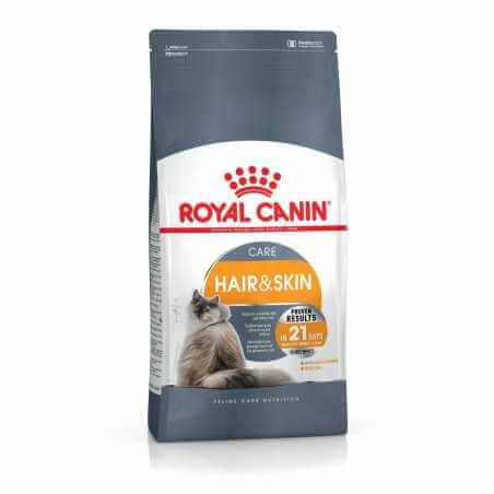 Pack Royal canin CHAT HAIR & SKIN 2 Kg + 2 pochons gratuit