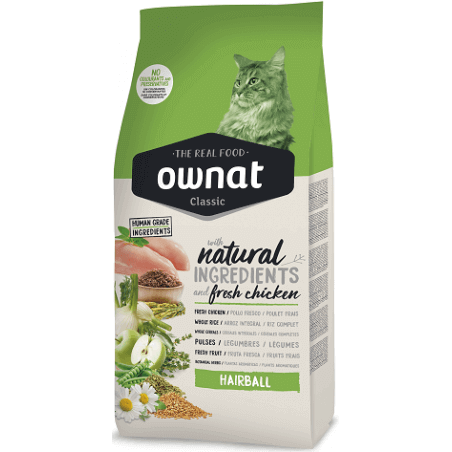 OWNAT CHAT HAIRBALL 4 KG